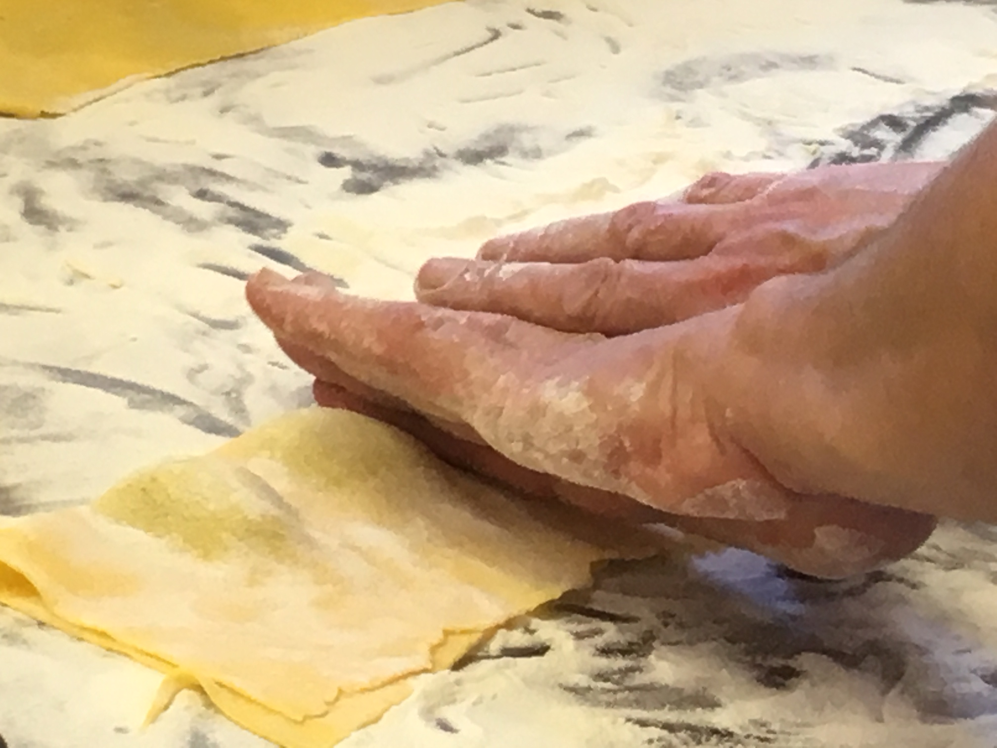Il tortello di patate di Villa Campestri Olive Oil Resort