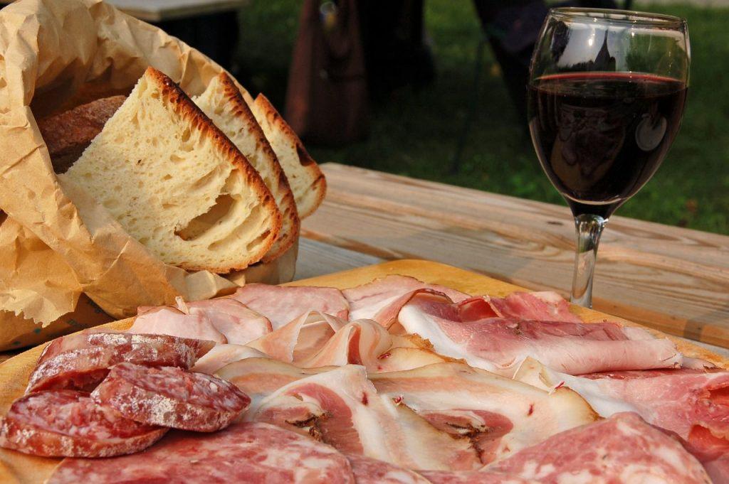 Typical Tuscan cold cuts served at Villa Campestri Olive Oil Resort